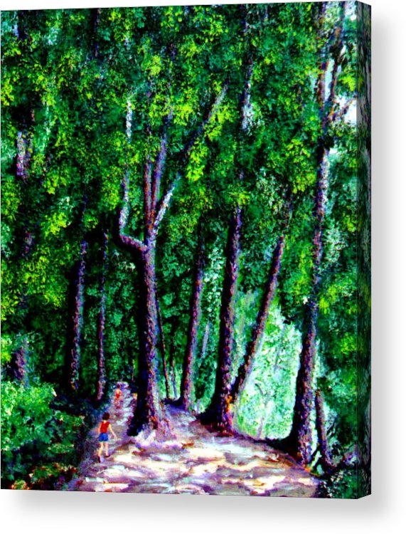 Trail Acrylic Print featuring the painting The Trail by Stan Hamilton