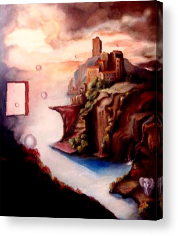 Surreal Acrylic Print featuring the painting The Window by Jordana Sands