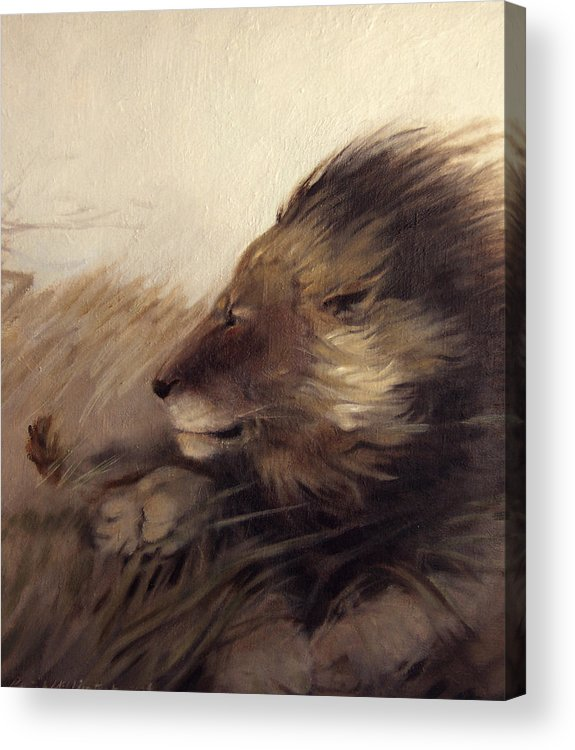 Animal Acrylic Print featuring the painting Wind by Patrick McClintock