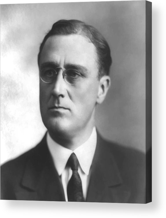 Franklin Roosevelt Acrylic Print featuring the painting Young Franklin Delano Roosevelt by War Is Hell Store