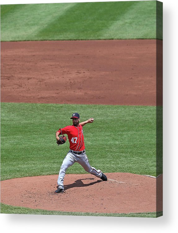 Ball Acrylic Print featuring the photograph Gio Gonzalez by Jonathan Daniel