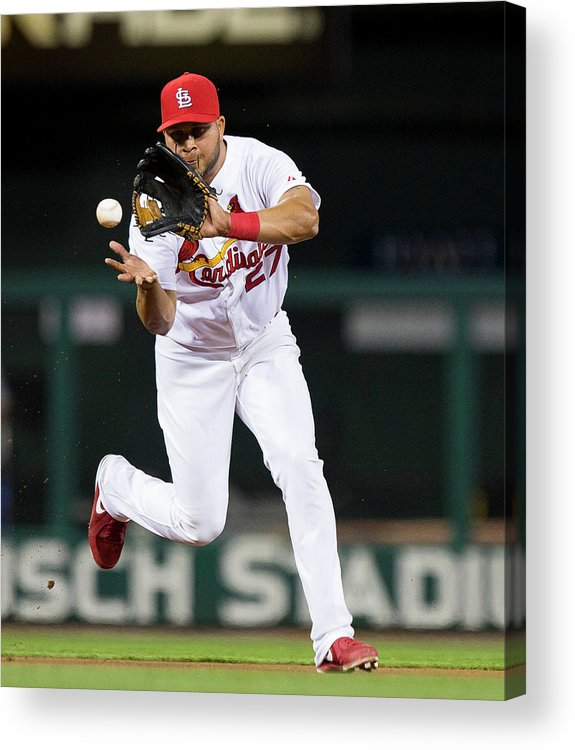 St. Louis Cardinals Acrylic Print featuring the photograph Jhonny Peralta by David Welker
