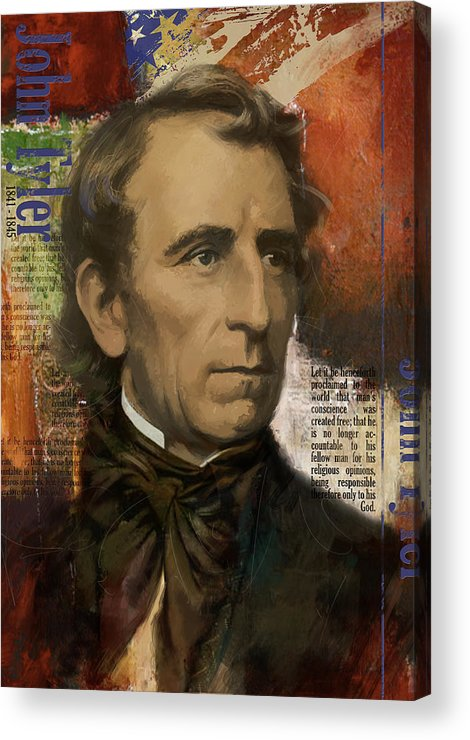 John Tyler Acrylic Print featuring the painting John Tyler by Corporate Art Task Force