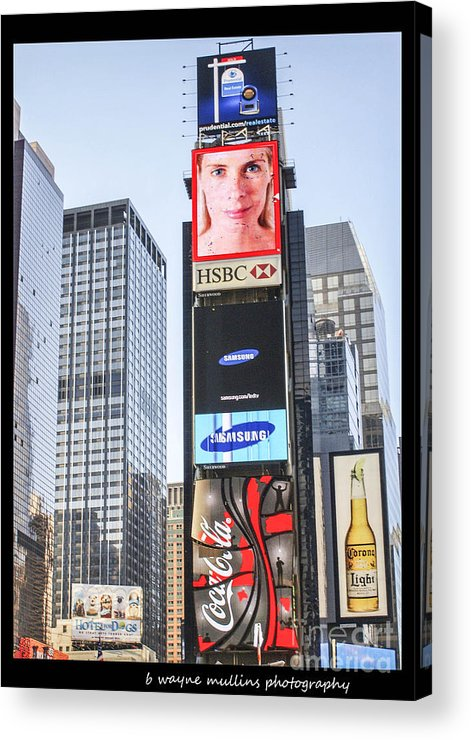 New York Acrylic Print featuring the photograph New York New York by B Wayne Mullins