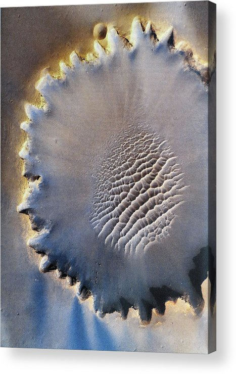 Crater Acrylic Print featuring the digital art Victoria Crater by Patricia Januszkiewicz