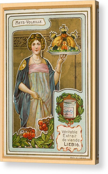 France Acrylic Print featuring the drawing 1890s France Liebig Cigarette Card 5 by The Advertising Archives
