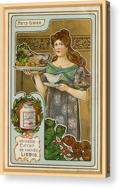 France Acrylic Print featuring the drawing 1890s France Liebig Cigarette Card by The Advertising Archives