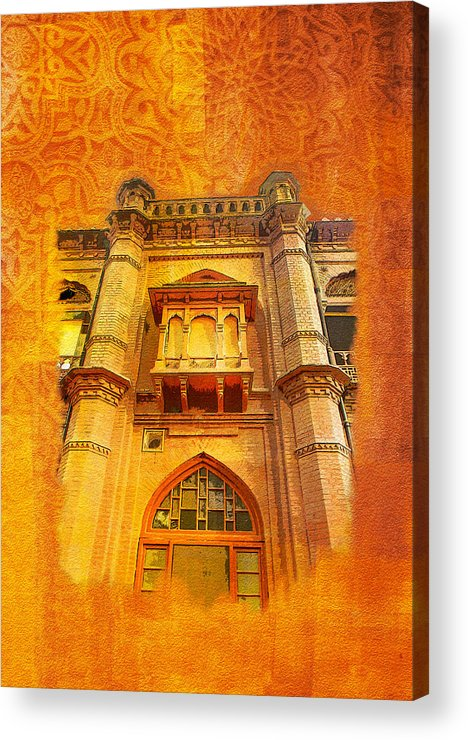 Pakistan Acrylic Print featuring the painting Aitchison College by Catf