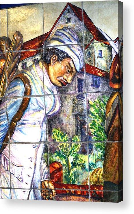 Paris Acrylic Print featuring the photograph Bastille Metro No 3 by A Morddel