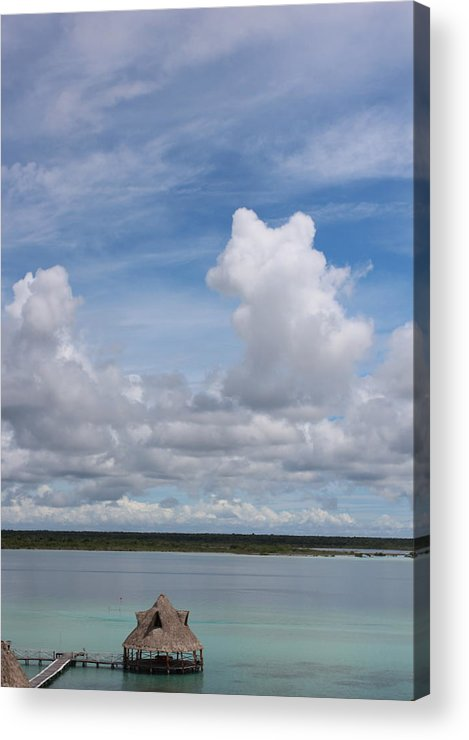 Landscape Acrylic Print featuring the photograph Cabin At Bacalar Lagoon by Raul Ortiz-Pulido