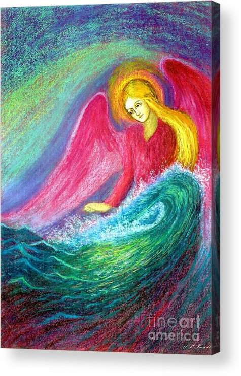 Angel Acrylic Print featuring the painting Calming Angel by Jane Small
