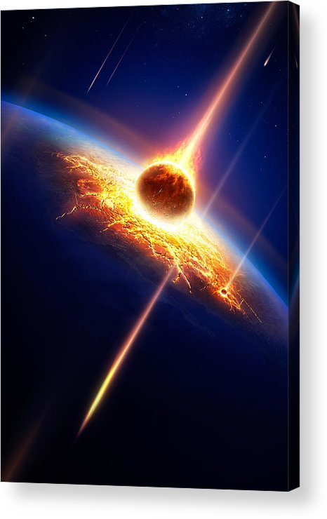 Earth Acrylic Print featuring the photograph Earth In A Meteor Shower by Johan Swanepoel