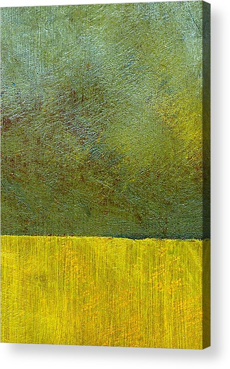 Abstract Landscape Acrylic Print featuring the painting Earth Study Two by Michelle Calkins