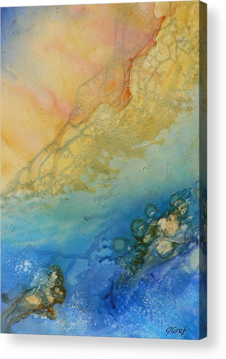 Abstract Acrylic Print featuring the painting Edge Of The Sea by Julia Graf