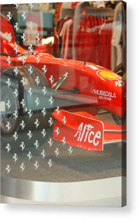 Stallions Acrylic Print featuring the photograph Ferrari Formula One by Rob Hans