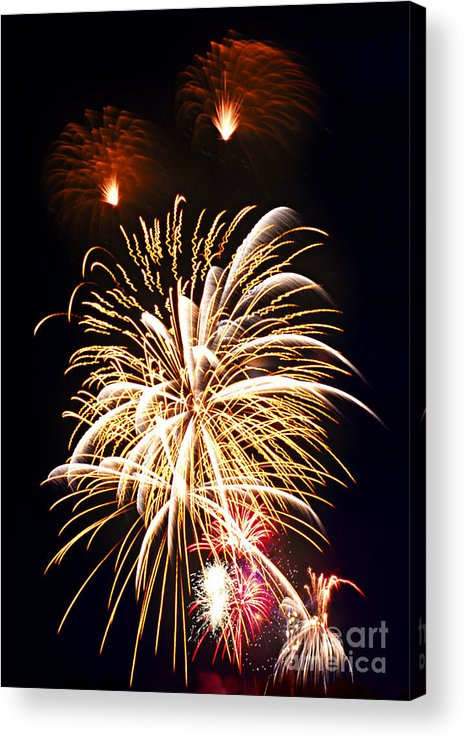 Firework Acrylic Print featuring the photograph Fireworks by Elena Elisseeva