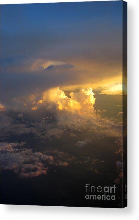 Cloud Acrylic Print featuring the photograph Golden Rays by Ausra Huntington nee Paulauskaite