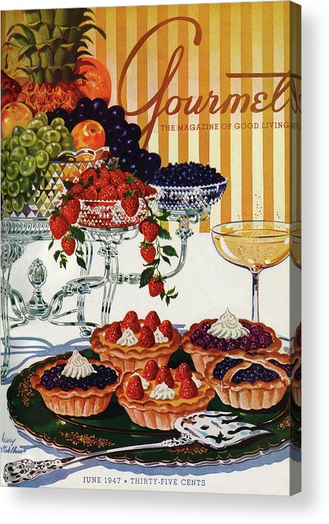 Food Acrylic Print featuring the photograph Gourmet Cover Of Fruit Tarts by Henry Stahlhut