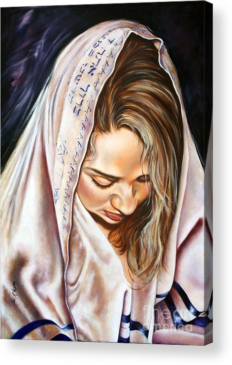 Biblical Acrylic Print featuring the painting If My People by Ilse Kleyn