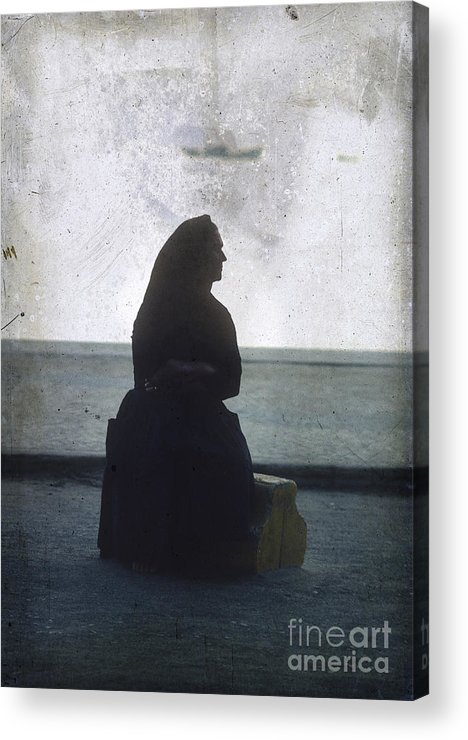 Outdoors Acrylic Print featuring the photograph Isolated Woman by Bernard Jaubert