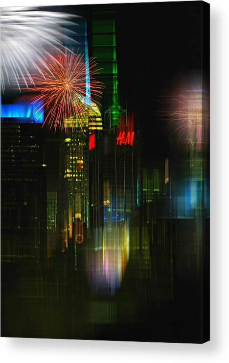New York City Acrylic Print featuring the photograph It's New York by Diana Angstadt
