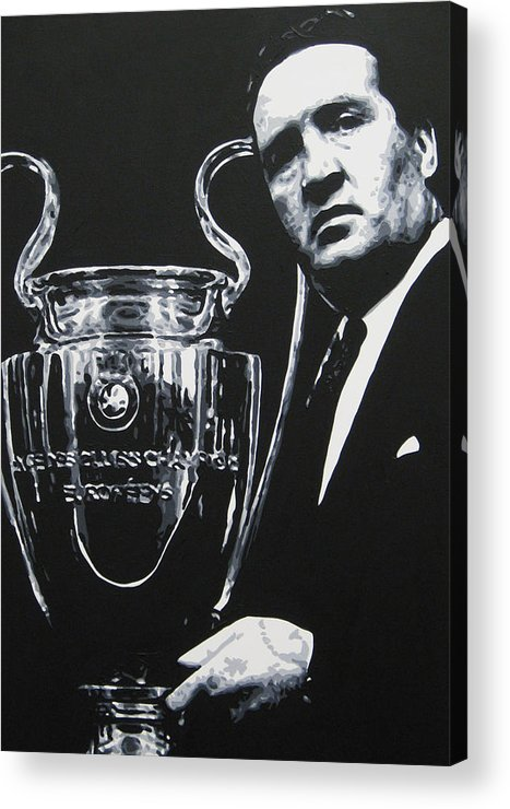 Jock Stein Acrylic Print featuring the painting Jock Stein - Celtic Fc by Geo Thomson