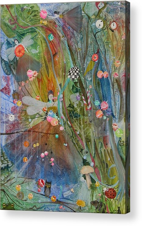 Fantasy Acrylic Print featuring the painting Les Carioles by Jackie Mueller-Jones