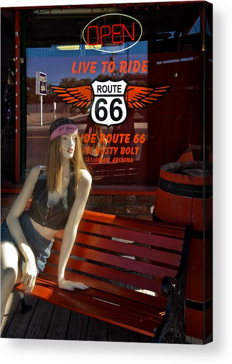 Harley Davidson Acrylic Print featuring the photograph Live To Ride by Gary Warnimont