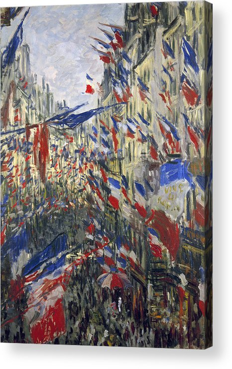 1878 Acrylic Print featuring the photograph Monet: Montorgeuil, 1878 by Granger