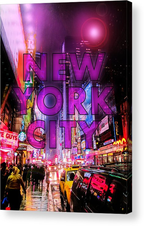 New York Acrylic Print featuring the photograph New York City - Color by Nicklas Gustafsson