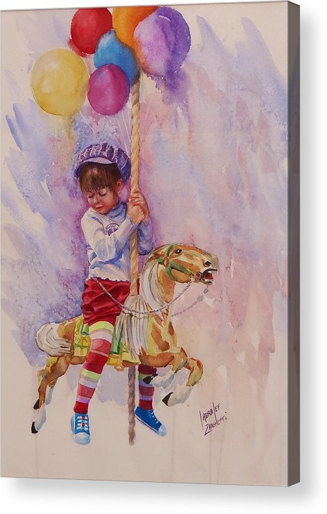 Water Color Painting Acrylic Print featuring the painting Norwood Day by Laura Lee Zanghetti