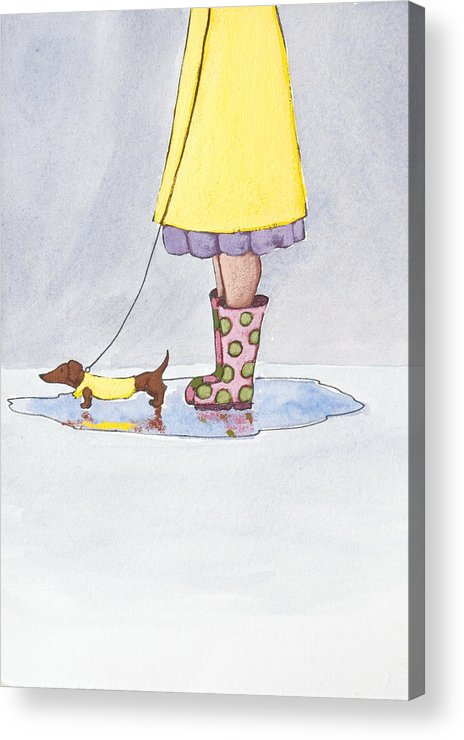 Boot Acrylic Print featuring the painting Rain Boots by Christy Beckwith