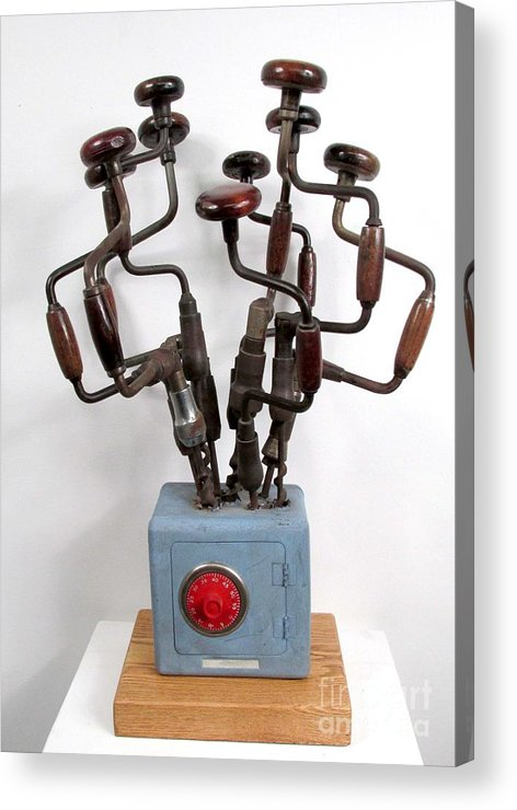Czappa Acrylic Print featuring the sculpture Safe Bouquet #62 by Bill Czappa