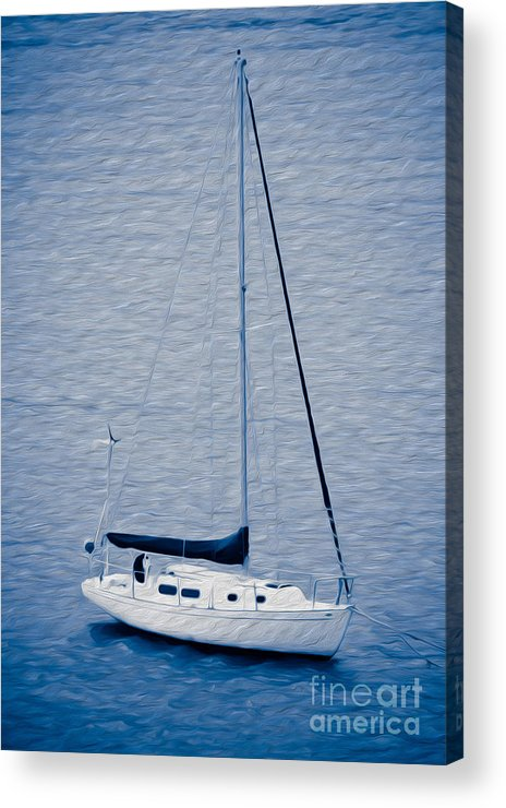 Eastern Caribbean Acrylic Print featuring the digital art Sailboat Adventure by Kenneth Montgomery