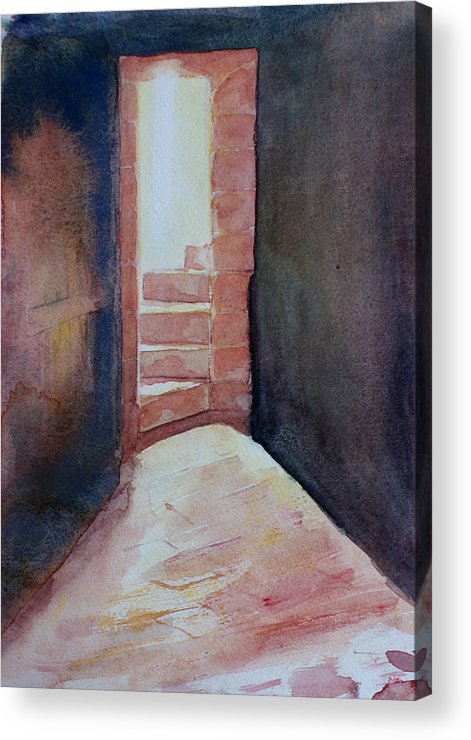 Light Acrylic Print featuring the painting Secrets by Janice Gell