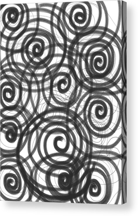Spiral Acrylic Print featuring the painting Spirals Of Love by Daina White