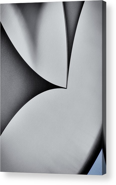 Stainless Steel Acrylic Print featuring the photograph Steel One by Brent Phillips