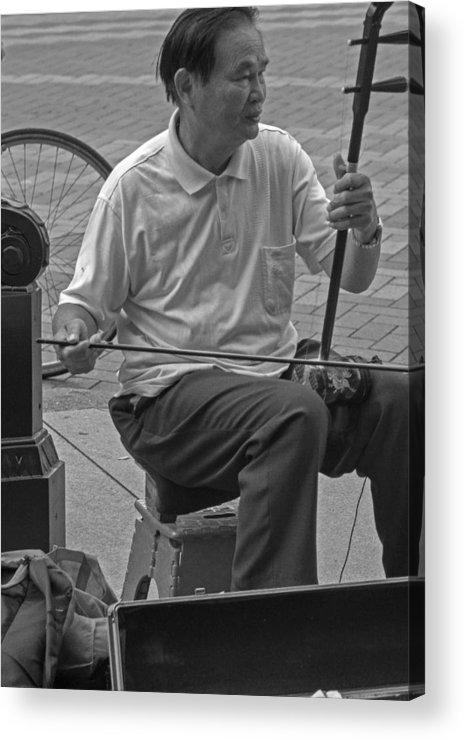 Street Acrylic Print featuring the photograph Street Strings 2 by Yuri Levchenko