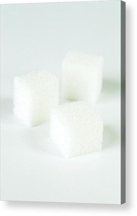Sugar Acrylic Print featuring the photograph Sugar Cubes by Gustoimages/science Photo Library