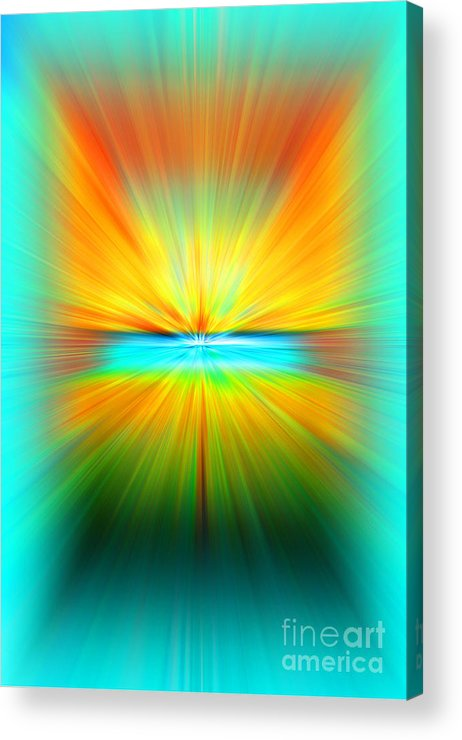 Abstract Acrylic Print featuring the photograph Sunburst by Clare VanderVeen