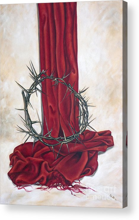 Crown Acrylic Print featuring the painting The King's Crown by Ilse Kleyn