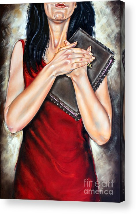 Bible Acrylic Print featuring the painting The Word by Ilse Kleyn