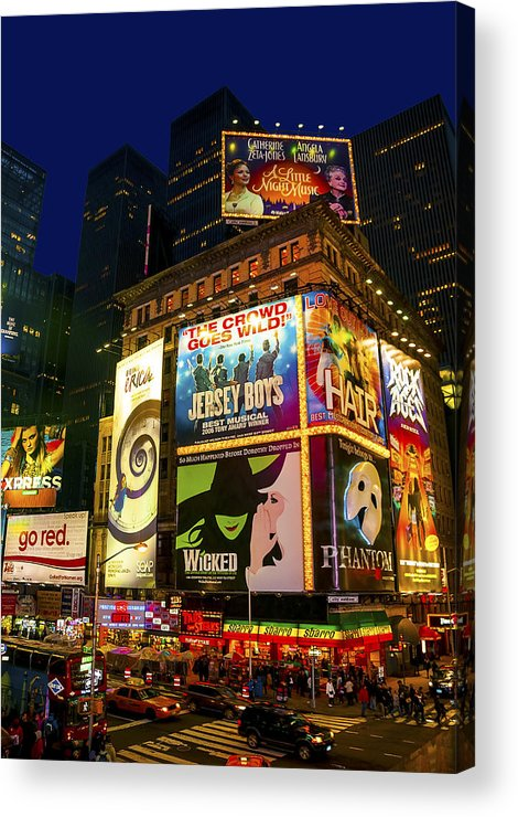 America Acrylic Print featuring the photograph Times Square by Svetlana Sewell