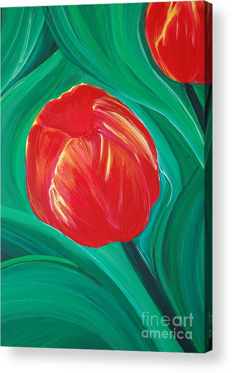 First Star Art Acrylic Print featuring the painting Tulip Diva By Jrr by First Star Art
