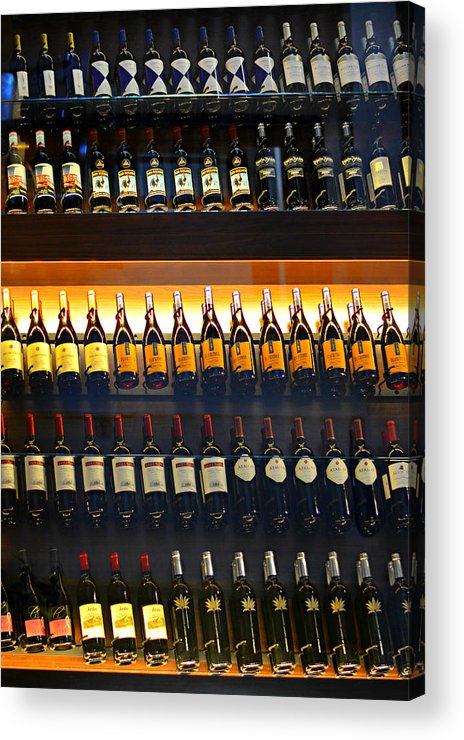 Wine Acrylic Print featuring the photograph Vino by Laura Fasulo