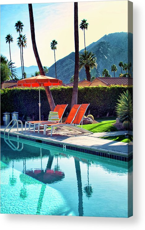 Pool Acrylic Print featuring the photograph Water Waiting Palm Springs by William Dey