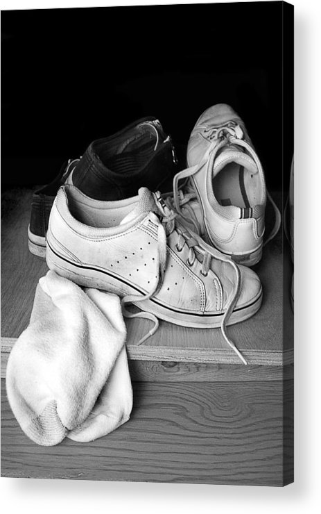 Tennis Acrylic Print featuring the photograph Worn by Marcia Colelli