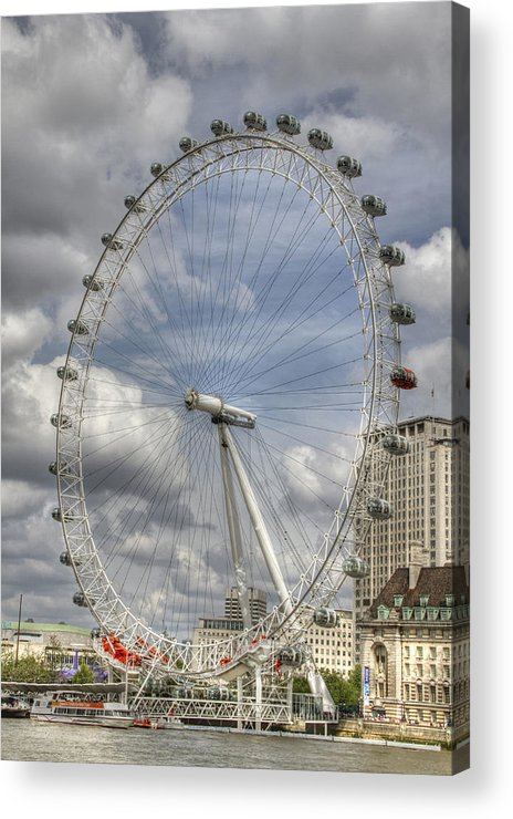 Westminster Acrylic Print featuring the photograph London Skyline Edf Eye by David French