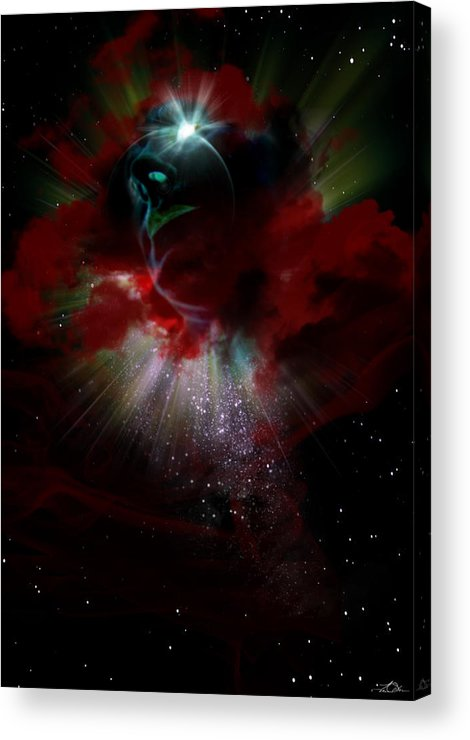 Eye Acrylic Print featuring the painting All Seeing by Tim Odom