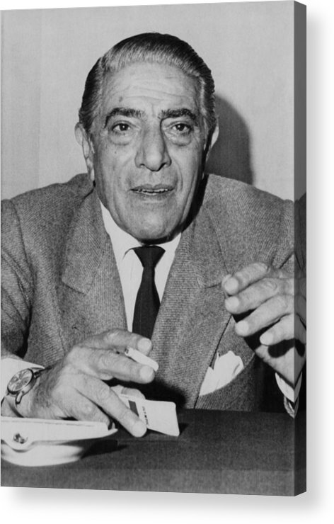 1970s Acrylic Print featuring the photograph Aristotle Onassis, Circa Early 1970s by Everett